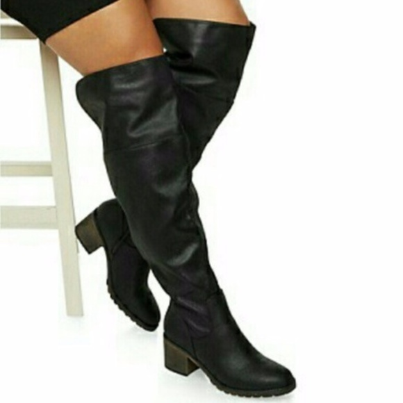 bcd8e895ab93 Rouge Helium Shoes | Helium Over The Knee Boots Wide Calf Nwt | Poshmark